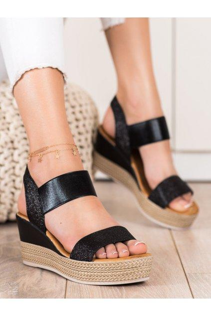 Čierne dámske sandále Camo kod 6401B