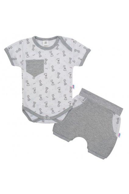 2-dielna letná bavlnená súprava New Baby Perfect Summer svetlo sivá