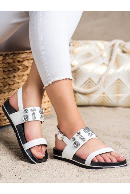 Biele sandále Shelovet kod DS-842W