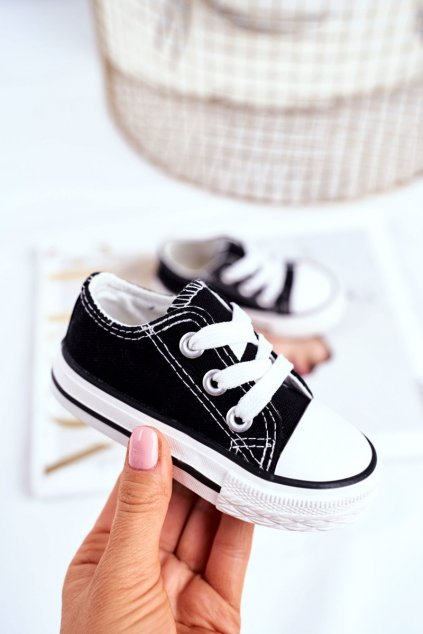 Detské tenisky farba čierna NJSK 860-A BLK