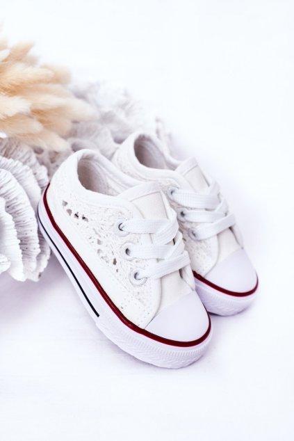 Detské tenisky farba biela NJSK 862-B WHITE