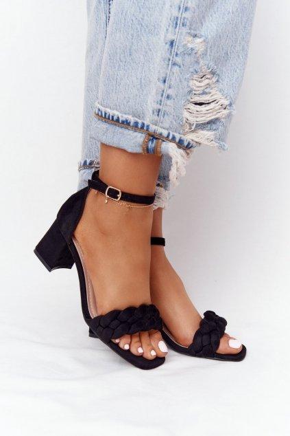 Dámske sandále farba čierna NJSK GG102 BLACK