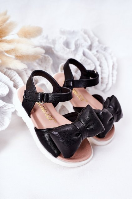 Detské sandále farba čierna NJSK 278-A BLACK