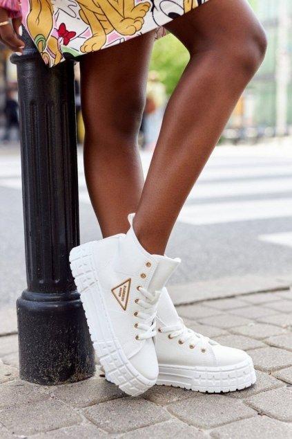 Dámske tenisky farba biela kód obuvi GD-HR-29 WHITE