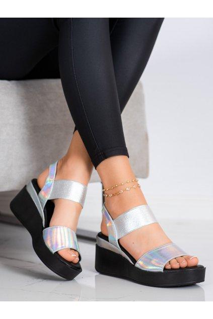 Sivé sandále Coura kod 3193S