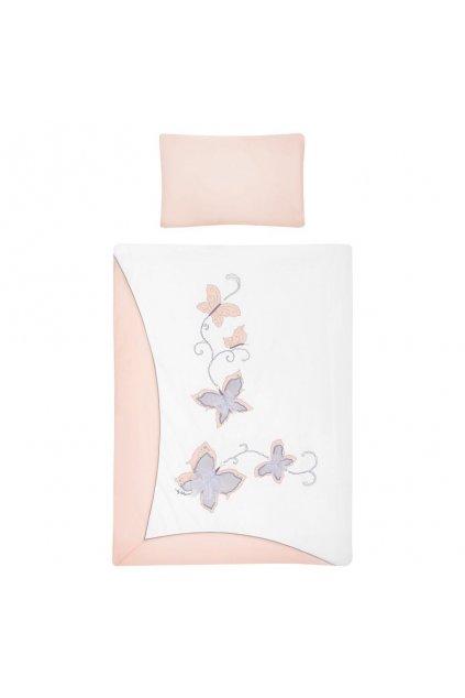 3-dielne posteľné obliečky Belisima Butterfly 90/120 ružové