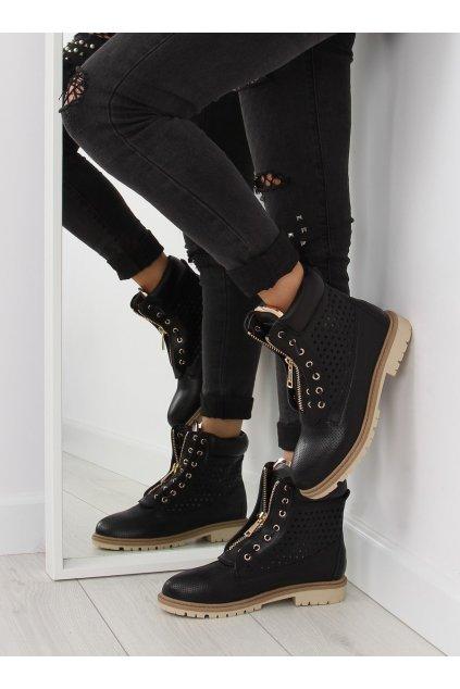 Dámske topánky na zimu čierne R103