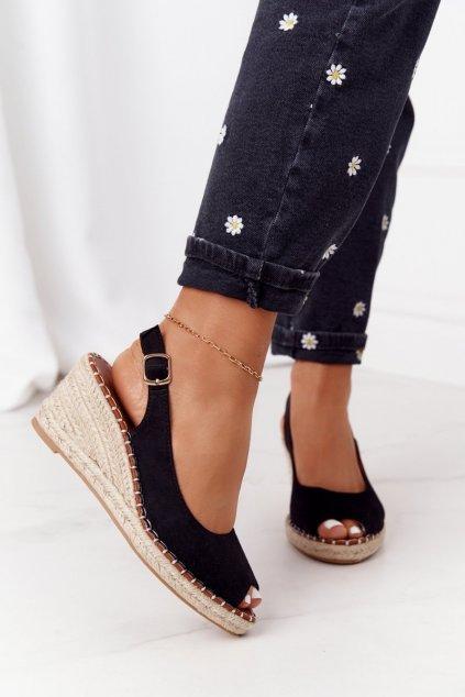 Dámske sandále farba čierna NJSK H135 NEGRO