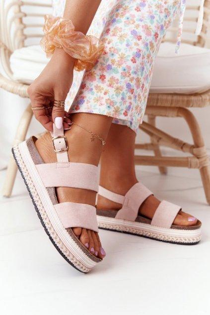 Dámske sandále farba ružová NJSK 7857 PINK