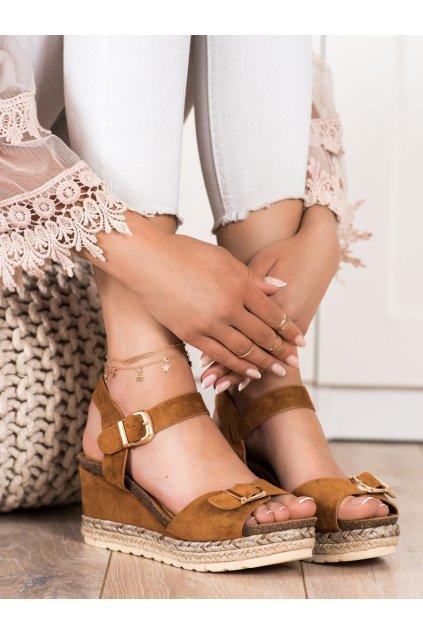 Hnedé sandále Shelovet NJSK YL93C