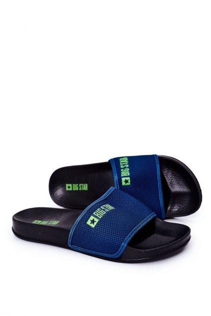 Pánske šľapky farba modrá kód obuvi DD174708 NAVY