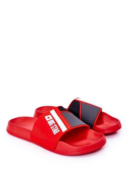 Pánske šľapky farba červená kód obuvi HH174835 RED