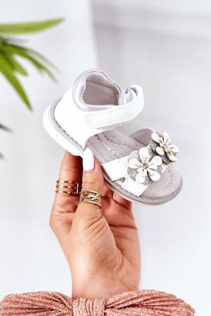 Detské sandále farba biela kód obuvi HX12 HX164 WHITE