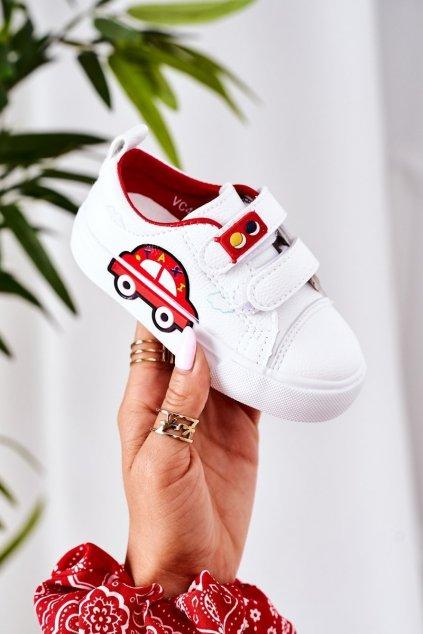 Detské tenisky farba biela kód obuvi VC47 RED