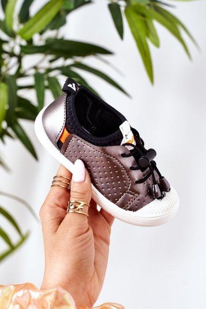 Detské tenisky farba sivá kód obuvi Z05 GARY