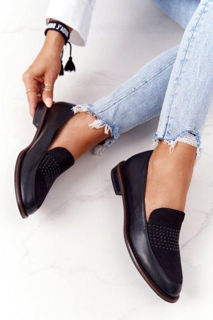 Dámske mokasíny farba čierna kód obuvi PB255 CZARNY MIC/PU