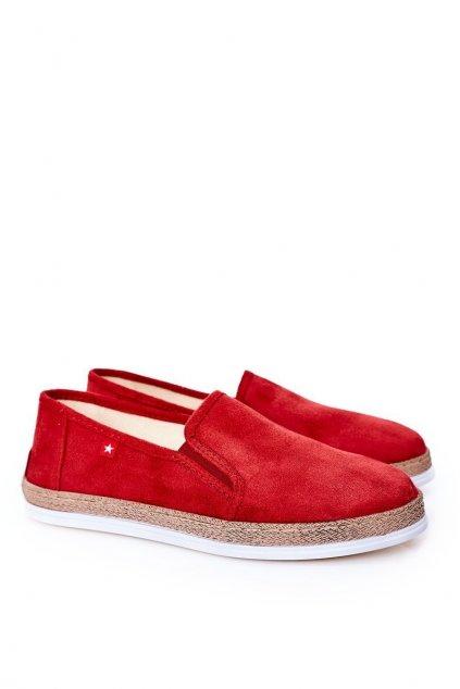 Pánske poltopánky farba červená kód obuvi HH176007 RED