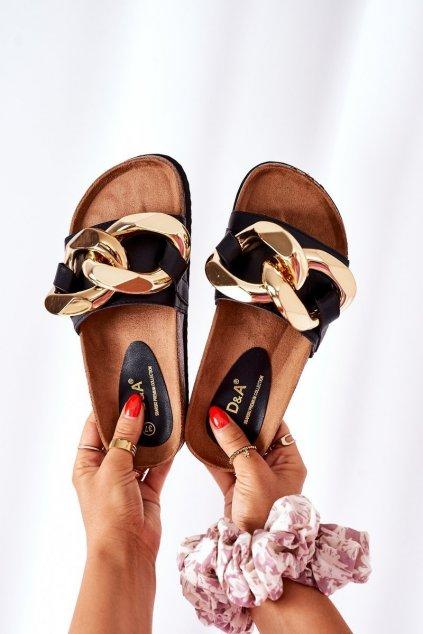 Dámske šľapky farba čierna kód obuvi SB002 BLACK