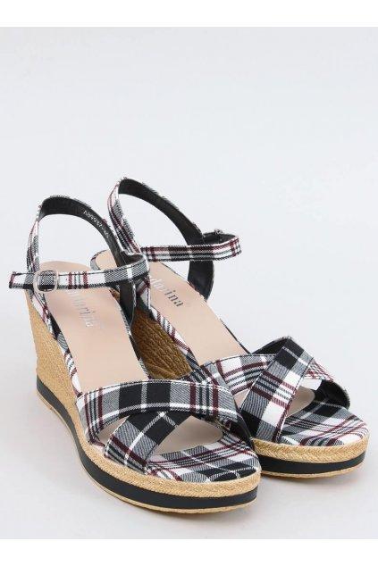 Dámske sandále čierne na platforme NJSK A89937
