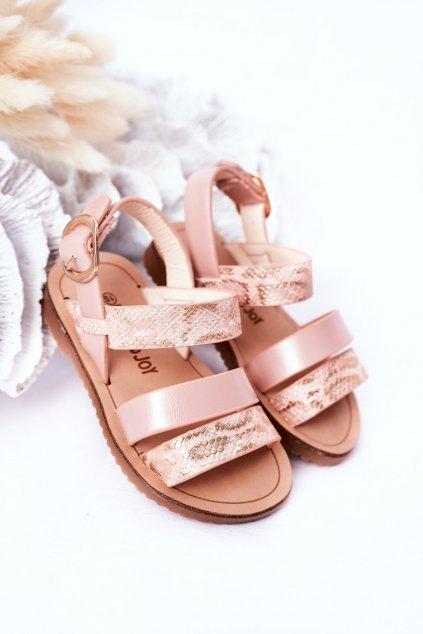 Detské sandále farba ružová NJSK 257-B PINK
