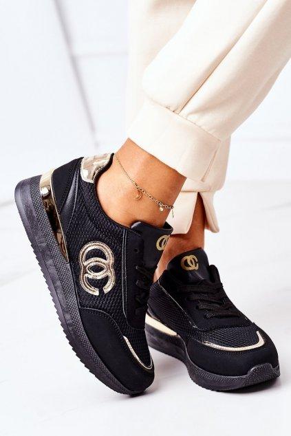 Dámske tenisky farba čierna kód obuvi 21SP26-4274 BLACK GOLD