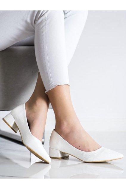 Biele dámske lodičky Sweet shoes NJSK 3845W