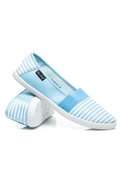 Modré tenisky Slip on 7H724-23L.BL (Veľkosť UK8 / EUR 41)