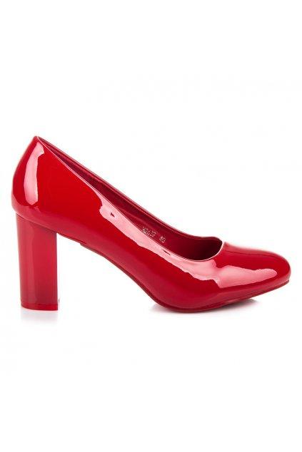Elegantné červené lodičky Lucky Shoes