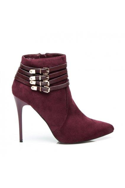 Klasické topánky na vysokom opätku YS-05WI / S2-65P veľ.č. 36 (Veľkosť UK5 / EUR 38)
