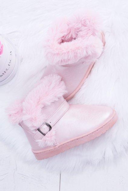 Detské ružové snehule NJSK 20221-1C PINK