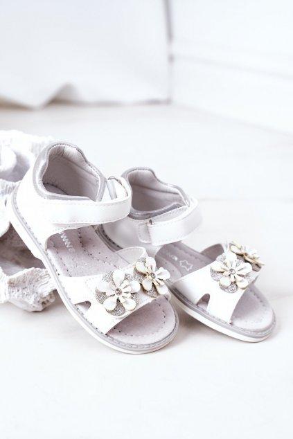 Detské sandále farba biela NJSK HX12 HX164 WHITE