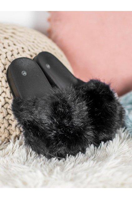 Čierne dámska obuv na doma NJSK CK107B