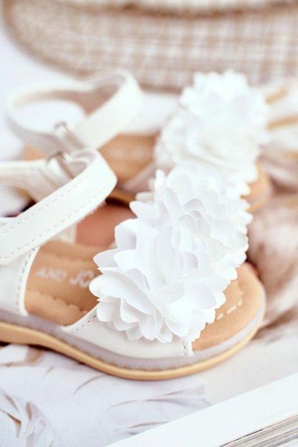 Detské sandále farba biela NJSK 243-B WHITE