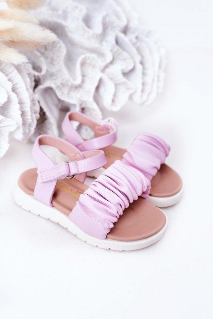 Detské sandále farba fialová NJSK 279-B PURPLE