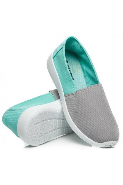 Sivo-zelené SLIP ON tenisky 7TX-AI85908M/G veľ.č. 37 (Veľkosť UK7 / EUR 40)
