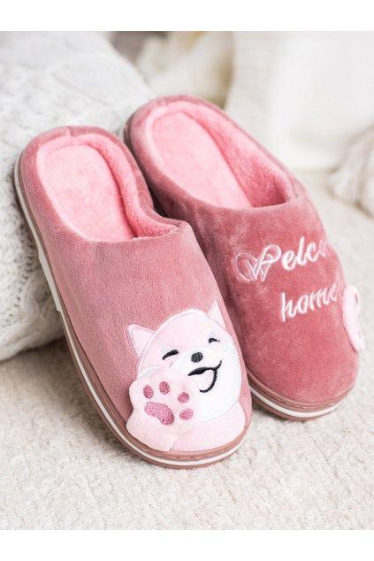 Ružové dámska obuv na doma NJSK WG-209PU