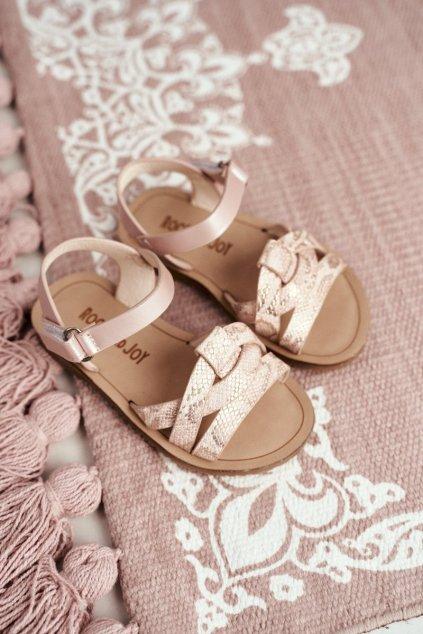 Ružové sandále NJSK 260-2B Pink