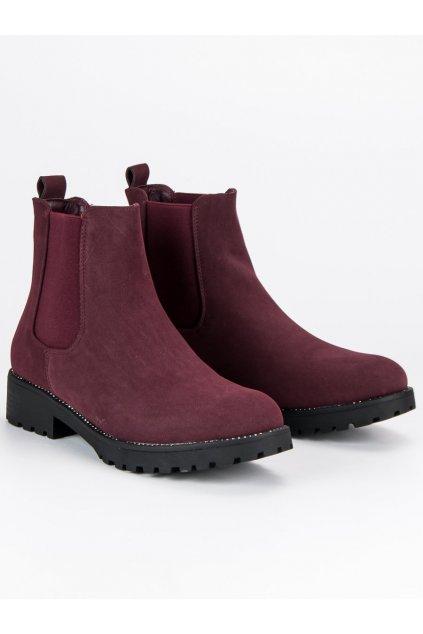 Dámske casual bordové topánky NC697R