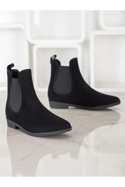 Čierne dámske topánky NJSK HQ-7B