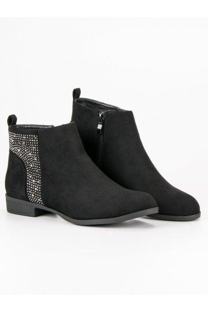 Elegantné čierne topánky Sergio Todzi