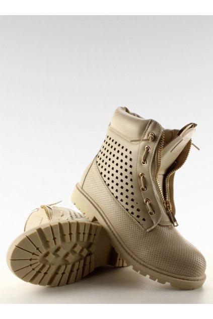 Dámske topánky na zimu béžové NJSK R103
