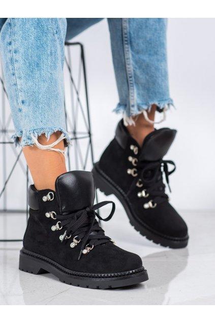 Čierne dámske topánky Bello star NJSK 15675B