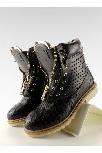 Dámske topánky na zimu čierne NJSK R103