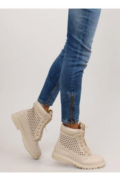 Dámske topánky na zimu sivé NJSK R103