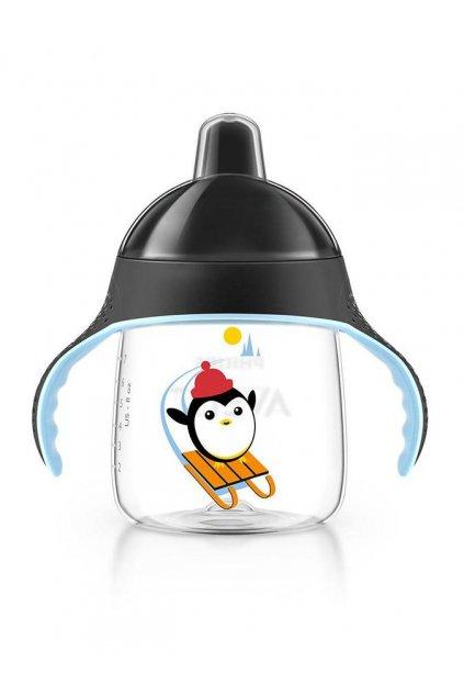 Kúzelný hrnček Avent Pingu 260 ml čierny