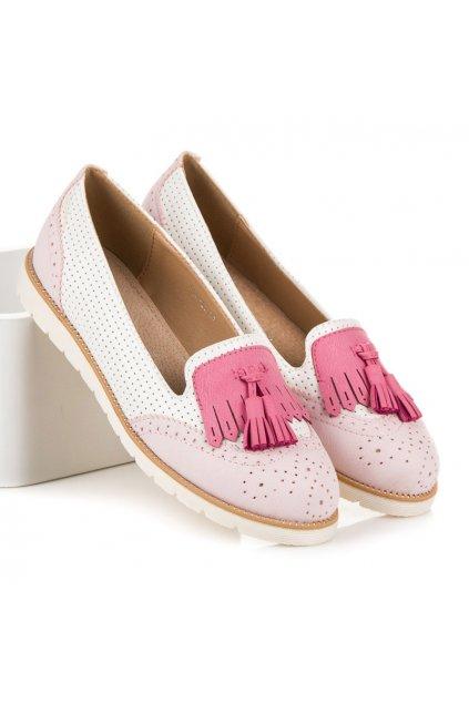 Ažúrové baleríny ružové Vices