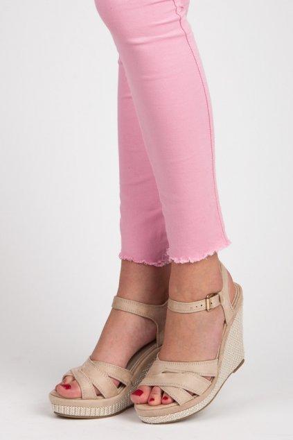 187461 damske bezove sandale na kline g318a big