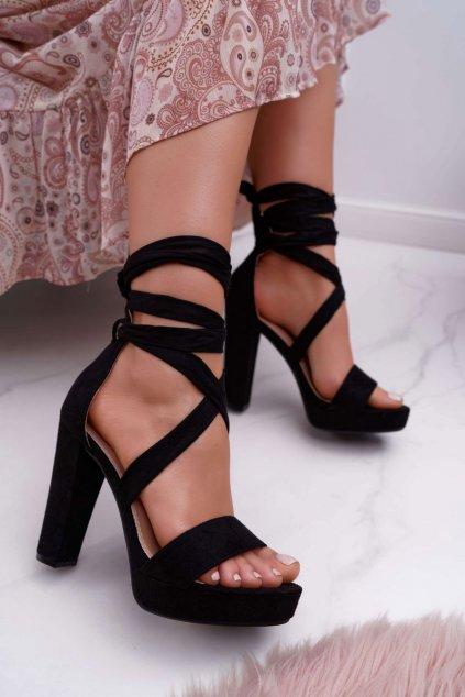Dámske čierne sandále NJSK KK35