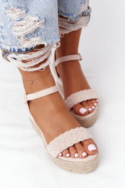 Dámske hnedé sandále NJSK XY12