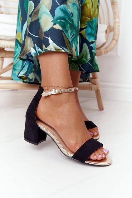 Dámske čierne sandále NJSK J-8717